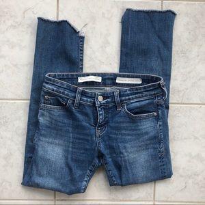 Pilcro & the Letterpress Parallel Raw Hem Jeans